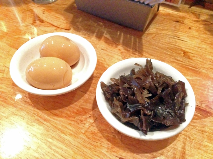 Man Fuel - Food Blog - Ken's Ramen - Providence, RI - Soy Braised Egg and Kikurage Mushrooms