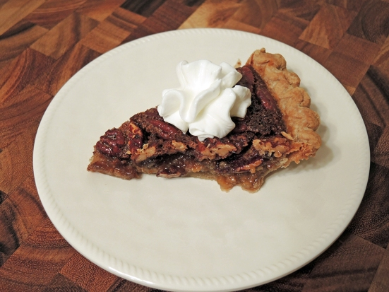 Man Fuel - Food Blog - Pecan Pie with Whipped Cream