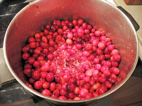 Man Fuel - Food Blog - Cranberry Pie Filling Simmering