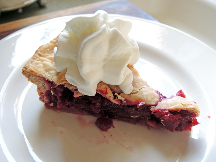 Man Fuel - Food Blog - Cranberry Pie - with Whipped Cream