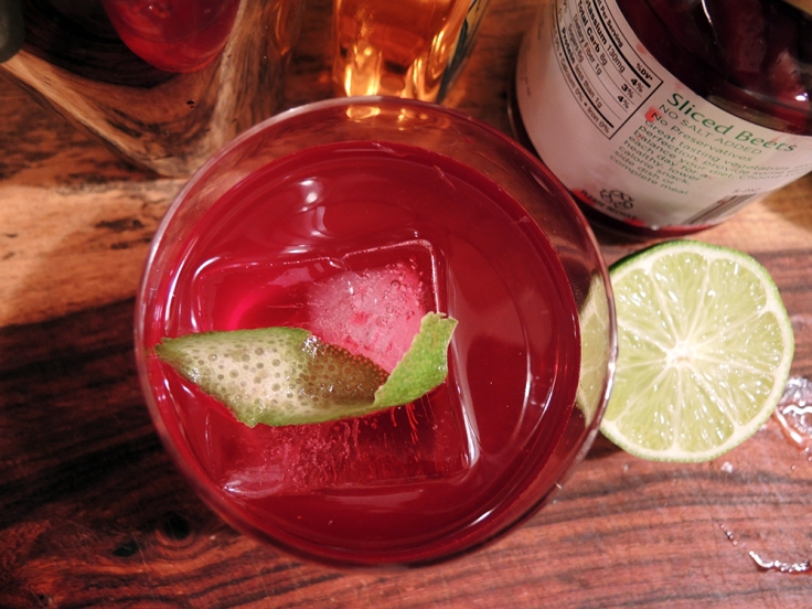 Man Fuel - Food Blog - Tequila and Beet Juice Cocktail with Lime
