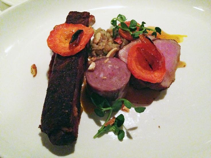 Man Fuel Food Blog - Craigie on Main - Camrbidge, MA - Pork Three Ways Signature DIsh