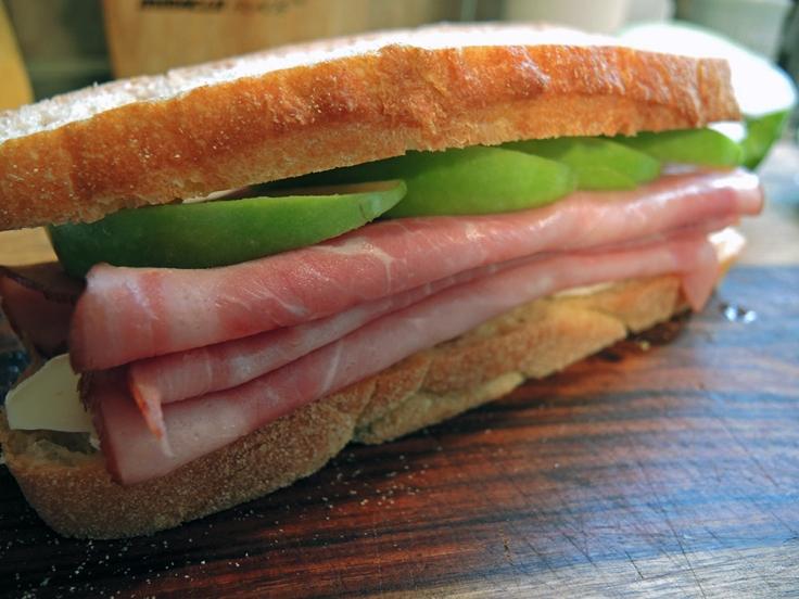 Man Fuel Food Blog - Ham, Brie, and Apple Sandwich
