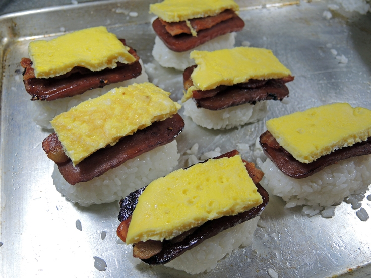 Man Fuel Food Blog - Spam Musubi Recipe - Spam Musubi with Bacon and Egg