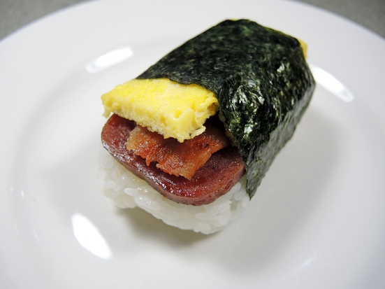 Man Fuel Food Blog - Spam Musubi Recipe - Spam Musubi with Egg and Bacon