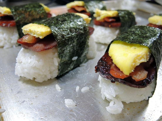 Man Fuel Food Blog - Spam Musubi Recipe - Spam Musubi Wrapped in Nori