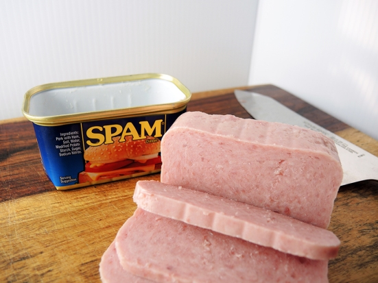 Man Fuel Food Blog - Spam Musubi Recipe - Spam Out of the Can