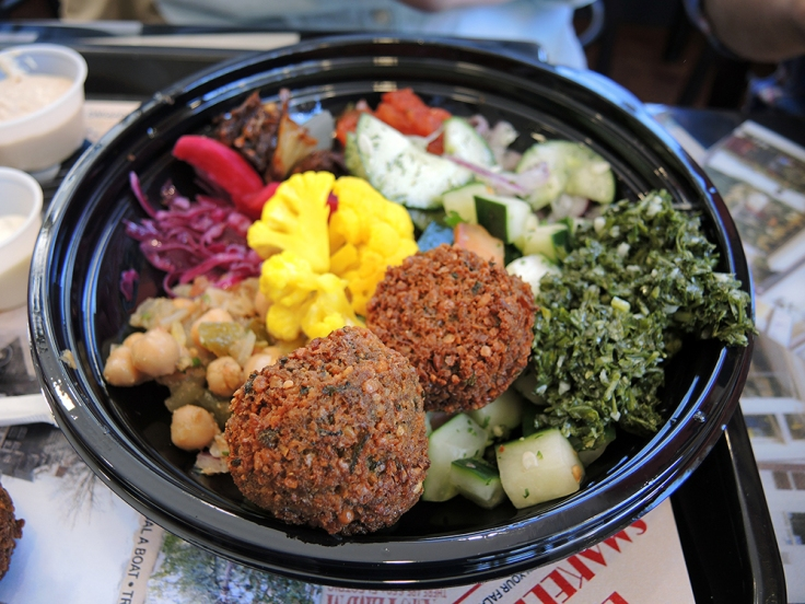 Man Fuel - Food Blog - Amsterdam Falafel Shop - Boston, MA - Full Falafel Bowl