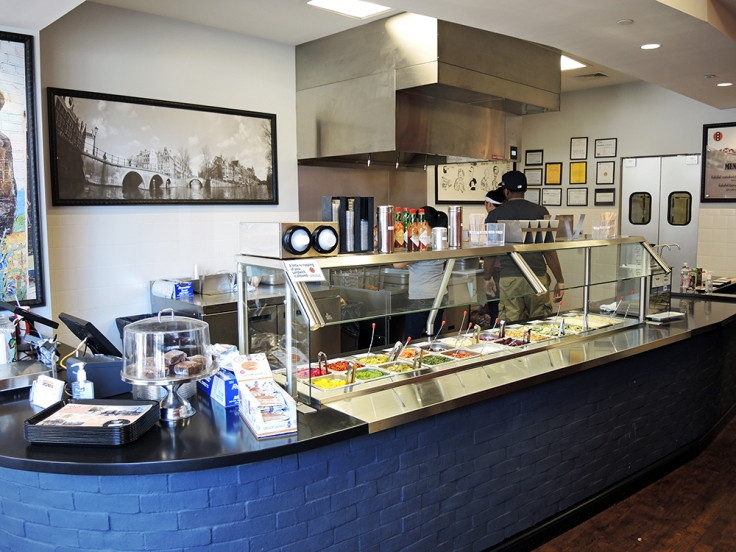 Man Fuel - Food Blog - Amsterdam Falafel Shop - Boston, MA - Interior Ordering