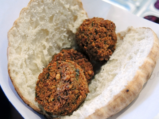 Man Fuel - Food Blog - Amsterdam Falafel Shop - Boston, MA - Small Falafel Sandwich