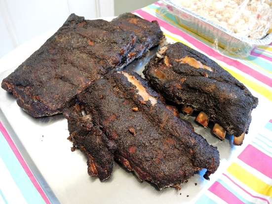 Man Fuel Food Blog - Dead Rooster Co Black Gold Rub Review - Ribs with Crust