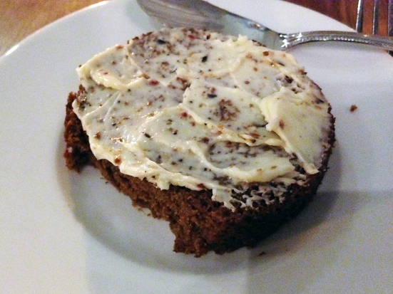 Man Fuel Food Blog - Townsman - Boston, MA - House Brown Bread in a Can with Butter