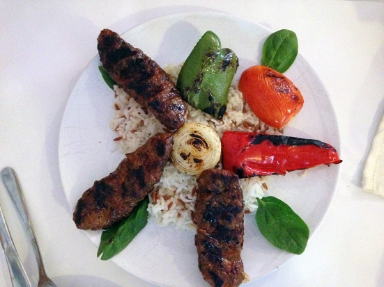 Man Fuel Food Blog - Camelia of Istanbul - East Providence, RI - Kofta Kabob