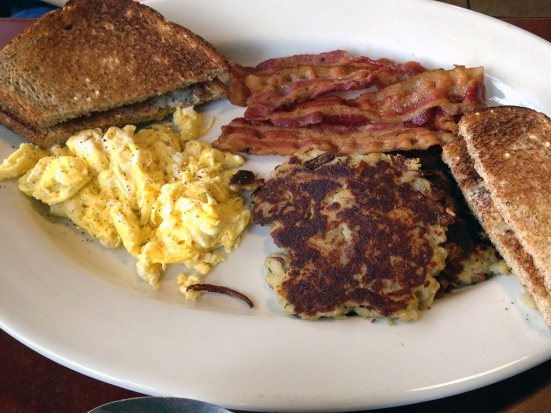 Man Fuel Food Blog - Classic Cafe - Providence, RI - Eggs, Bacon, and Potato Pancakes