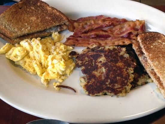 Man Fuel Food Blog - Classic Cafe - Providence, RI - Eggs, Bacon, and Potato Pancakes