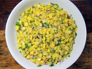 Mango Pineapple Salsa Recipe By Home Is A Kitchen