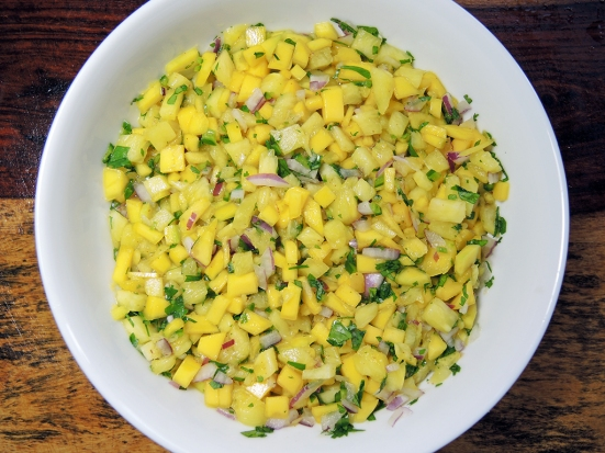 Man Fuel Food Blog - Mango Pineapple Salsa