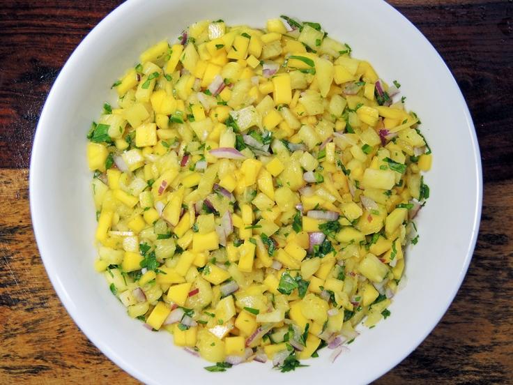 Man Fuel Food Blog - Mango Pineapple Salsa
