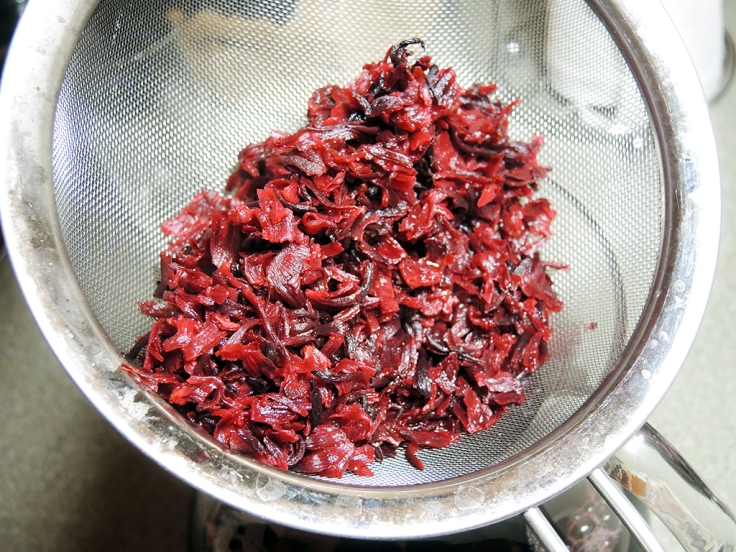 Man Fuel Food Blog - Boiled Hibiscus Flowers (Karkade) for Iced Tea