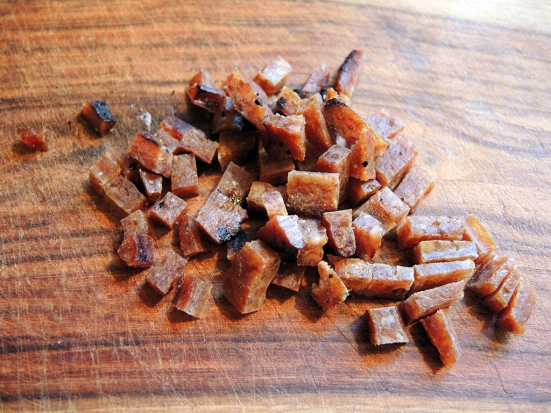 Man Fuel Food Blog - Charqs Smok'n Tender Grilled Pork Jerky Chopped for Cooking