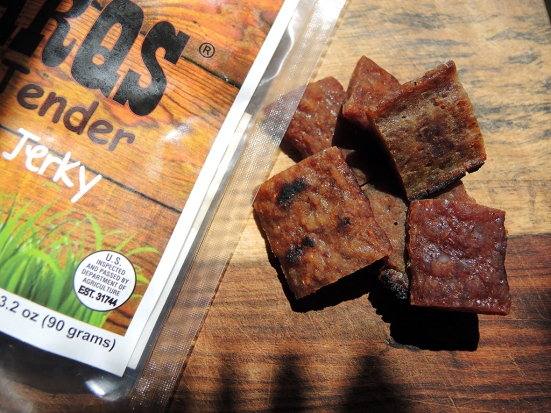 Man Fuel Food Blog - Charqs Smok'n Tender Grilled Pork Jerky Close Up