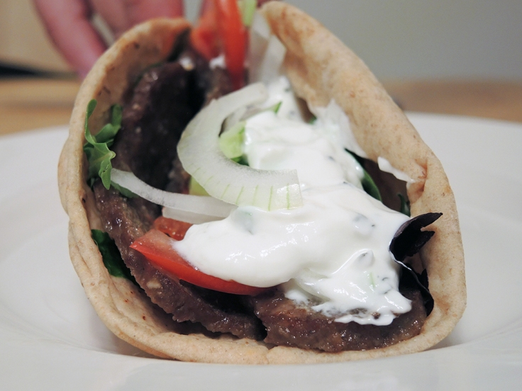 Man Fuel Food Blog - Homeade Gyro Sandwich Recipe with Tzatziki Sauce