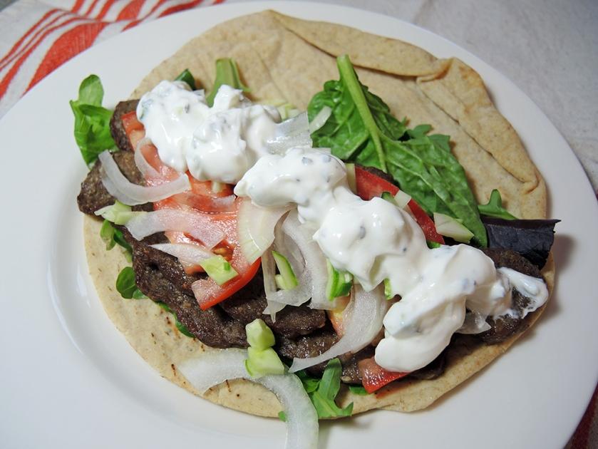 Man Fuel Food Blog - Homeade Gyros Sandwich Recipe