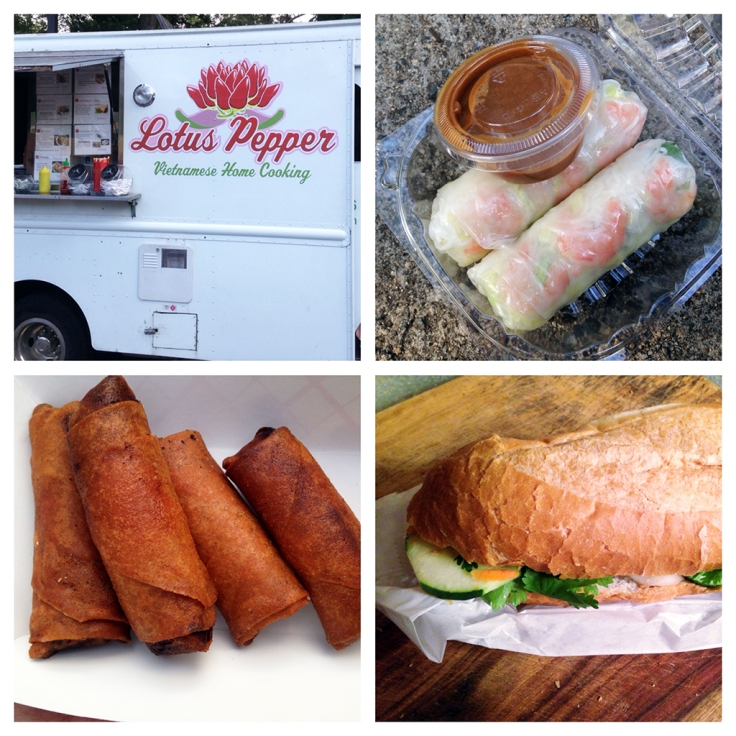 Man Fuel Food Blog - Lotus Pepper Food Truck - Spring Rolls Summer Rolls Banh Mi