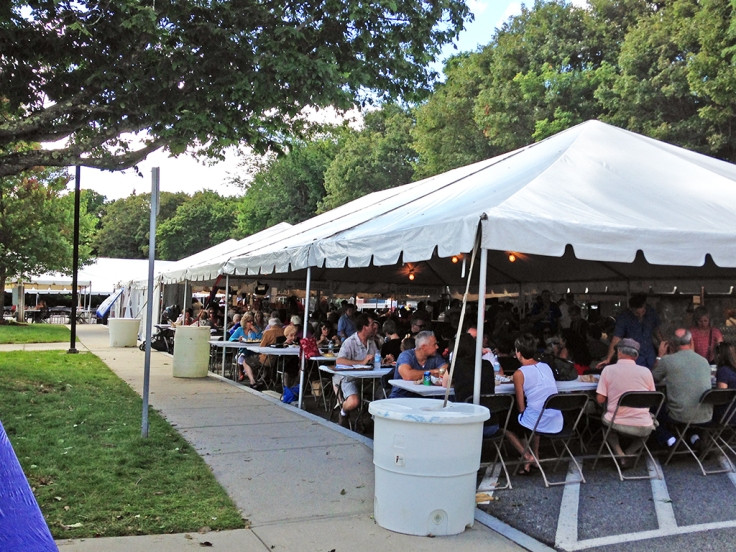 Man Fuel Food Blog - Cranston Greek Festival at Church of the Annunciation - Cranston, RI - Tents