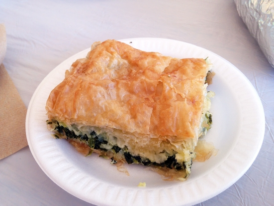 Man Fuel Food Blog - Cranston Greek Festival - Cranston, RI - Spanakopita