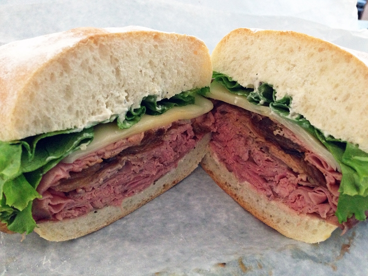 Man Fuel Food Blog - Cucina Mia - Quincy, MA - Arrosta Roast Beef Sandwich Close Up
