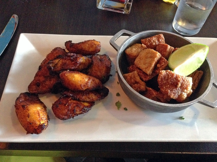 Man Fuel Food Blog - Vejigantes - Boston, MA - Chicharron and Maduros (Sweet Plantains)