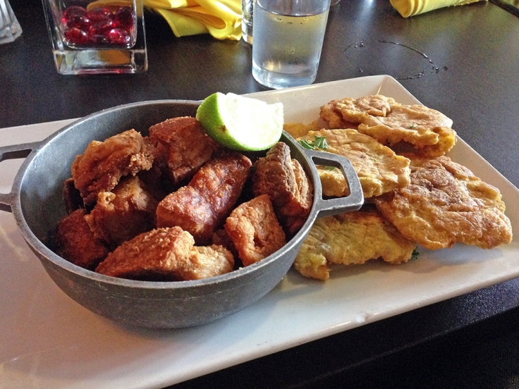 Man Fuel Food Blog - Vejigantes - Boston, MA - Chicharron and Tostones