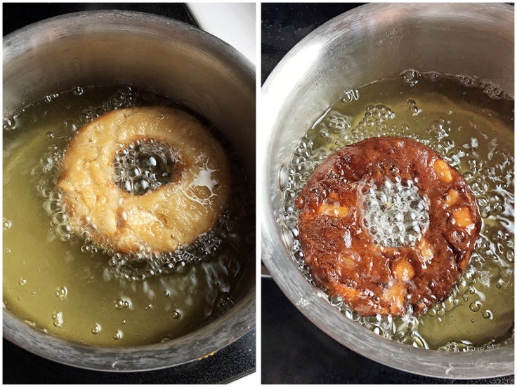 Man Fuel Food Blog - Frying Apple Cider Doughnuts