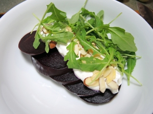 Man Fuel Food Blog - Roasted Beet, Yogurt, and Arugula Salad