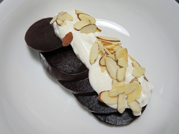 Man Fuel Food Blog - Persian Beet Salad with Yogurt and Almonds