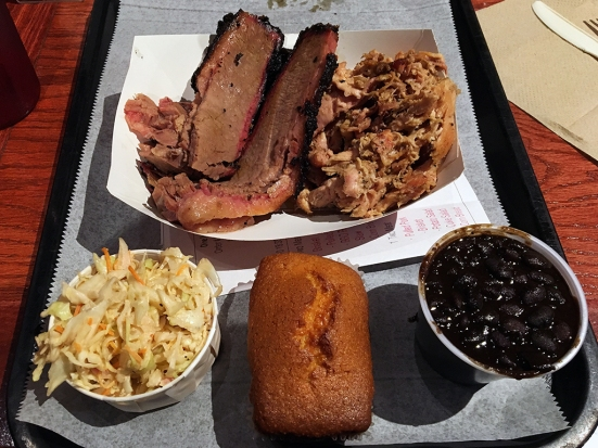 Man Fuel Food Blog - BT's Smokehouse - Strubridge, MA - Brisket, Cornbread, Coleslaw, Beans