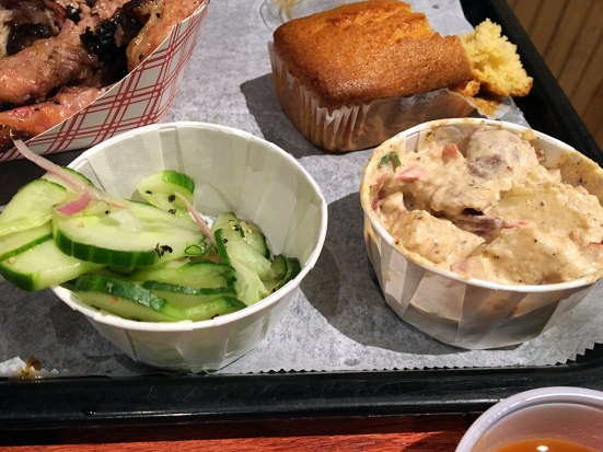 Man Fuel Food Blog - BT's Smokehouse - Strubridge, MA - Cucumber Salad and Potato Salad