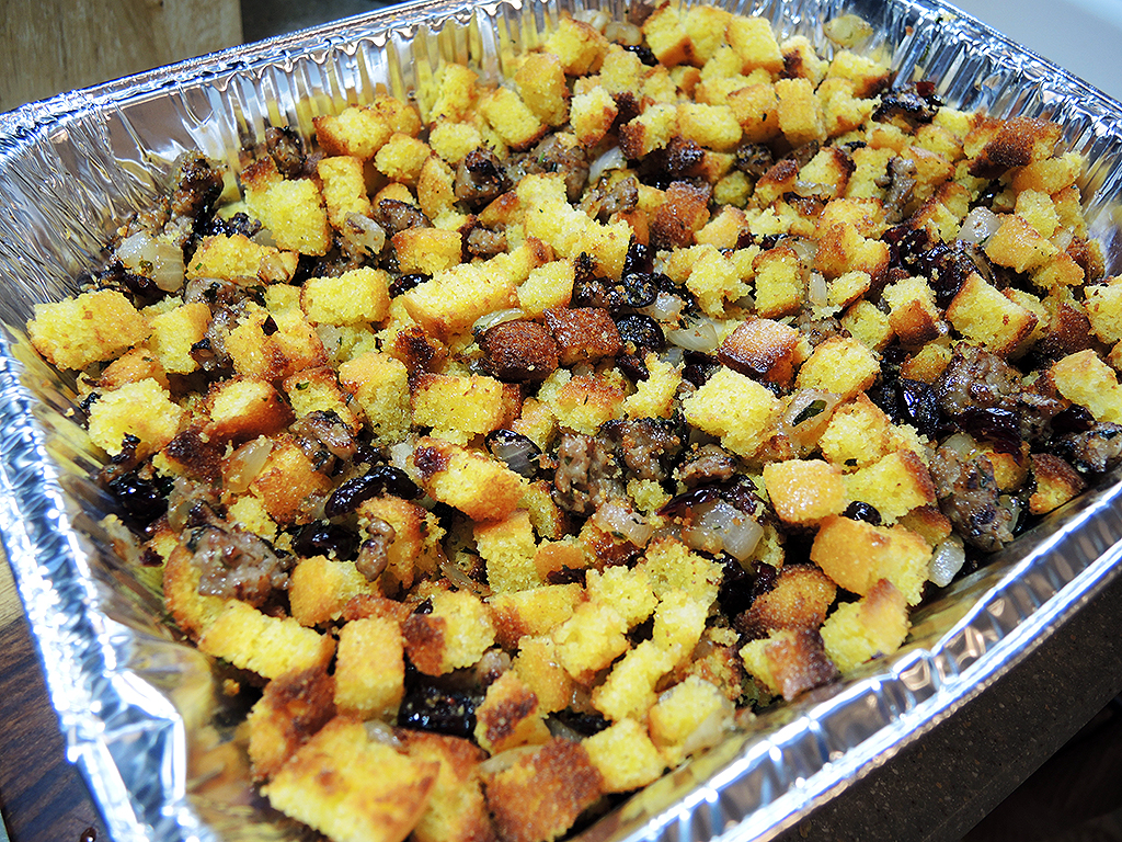 Man Fuel Food Blog - Cornbread, Sausage, and Cranberry Stuffing