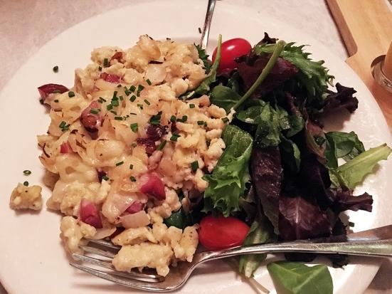 Man Fuel Food Blog - Redlefsen's - Bristol, RI - Kaesespaetzle