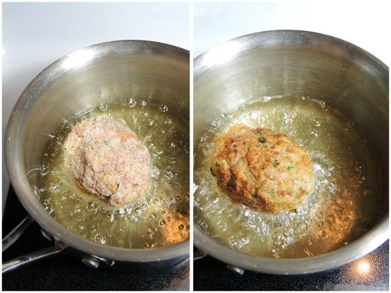 Man Fuel Food Blog - Frying Scotch Eggs