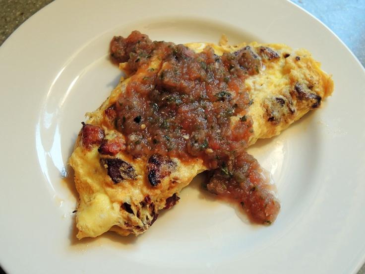 Man Fuel Food Blog - NOLAs Fresh Foods Salsa Fresca - Omelette