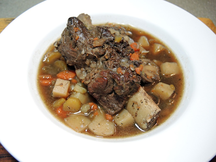 Man Fuel Food Blog - Bone in Braised Short Rib Beef Stew Recipe