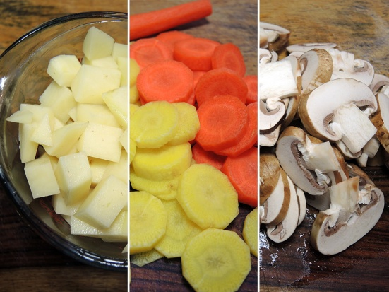 Man Fuel Food Blog - Chopped Vegetables for Stew
