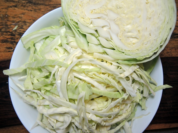 Man Fuel Food Blog - Sliced Cabbage