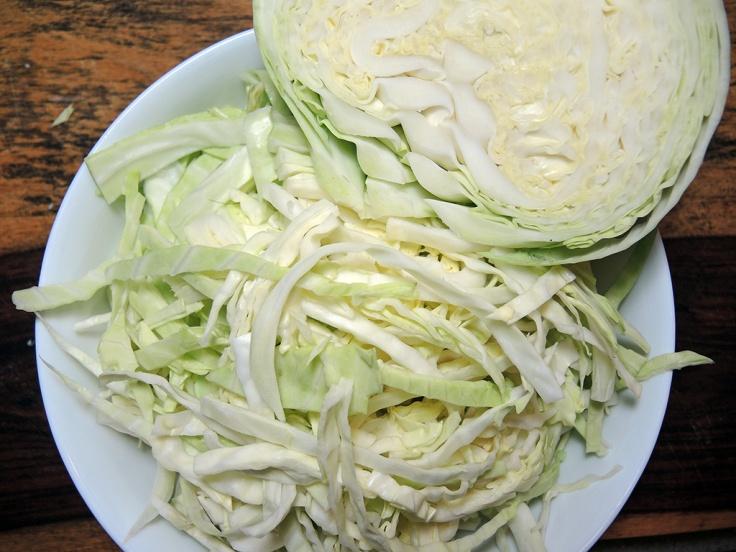 Man Fuel Food Blog - Sliced Cabbage