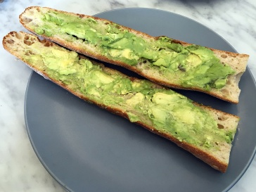 Avocado on a Baguette