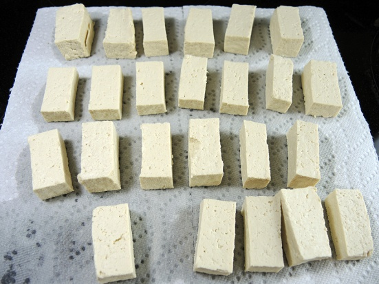 Drying Tofu on Paper Towels