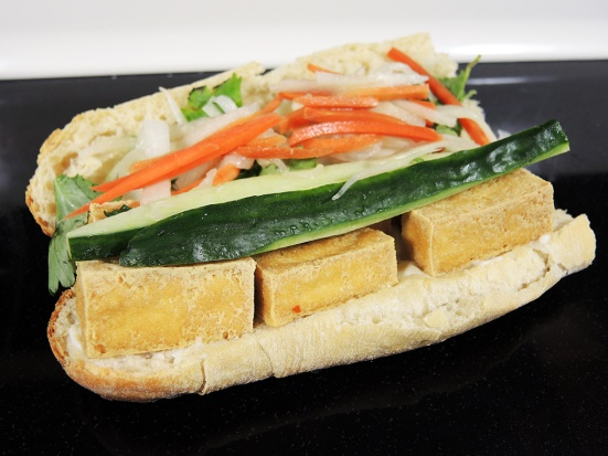 Fried Tofu Banh Mi Sandwich