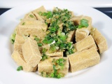 Fried Tofu Recipe with Scallions and Lemongrass